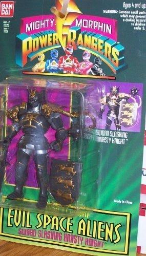 Mighty Morphin Power Rangers Evil Space Aliens - SWORD SLASHING KNASTY KNIGHT (Power Ranger Barbie compare prices)