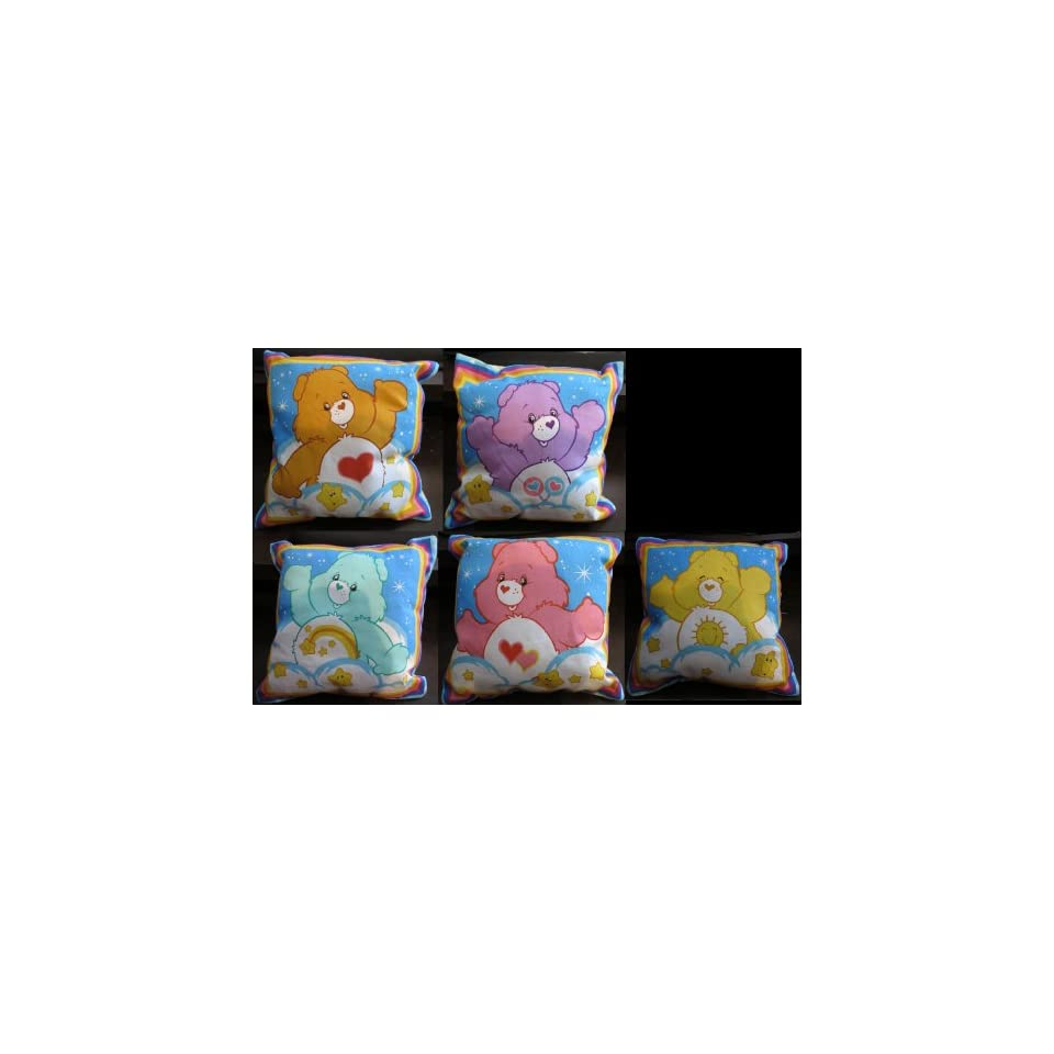 Care Bears 5 Pillow Collection (Share, Tenderheart, Wish
