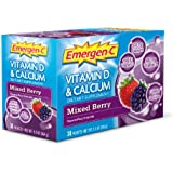 Emergen-C Vitamin D + Calcium, Mixed Berry, 30 Count