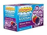 Emergen-C Vitamin D and Calcium Mixed Berry Fizzy Drink Mix 30 Sachets