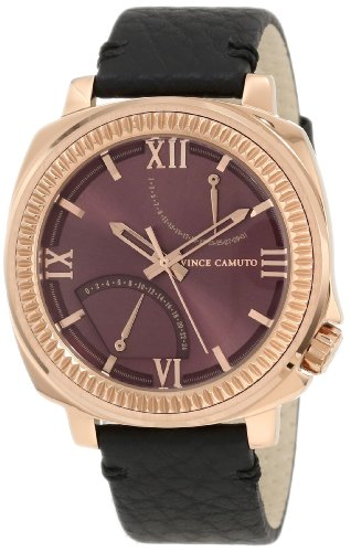 Vince Camuto Homme VC/1003BYRG The Veteran Wine Dial Date Function Rosegold-Tone Montre