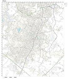 ZIP Code Wall Map of Austin, TX ZIP Code Map Laminated