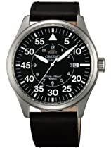 Orient 21-Jewel Automatic Aviator Flight Watch with Black Leather Strap ER2A003B