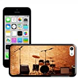 Fancy A Snuggle Warm Up Ready Drum Set and Amplifiers Hard Case Clip On Back Cover for Apple iPhone 5C