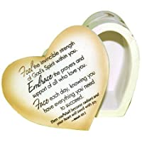 Encouragement, Feel God's Strength Heart Trinket Box