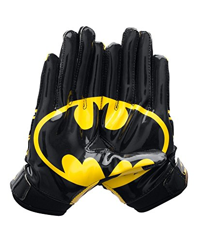 Under Armour Boys' Alter Ego Batman F5 Football Gloves, Black (001), Youth Medium (Football Gloves Under Armour compare prices)