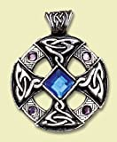 Celtic Cross - Pendant Charm Necklace for Inspiration and Intuition - Celtic and Viking jewellery in Lead-Free Pewter and Silver, Embelished with Swarovski Crystals