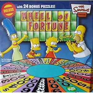 Click to buy Wheel of Fortune game: Simpsons collector's tin from Amazon!