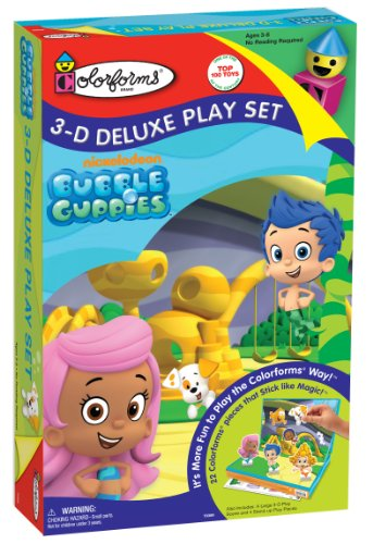 Colorforms 3D Deluxe Play Set Bubble Guppies Sticker Kit