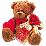 Confiserie Heidel Teddy mit feinen Edelvollmilch Täfelchen, 1er Pack (1 x 30 g Schokolade)
