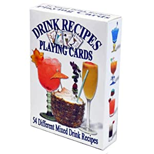 Drink Recipes Playing Cards - Deck of 54 Cards