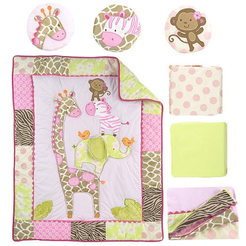 Trend Carter us Jungle Jill Piece Crib Bedding Set Detail