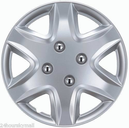 """14"""" Set Of 4 Hubcaps 03-04 Honda Civic Wheel Covers Design Are Universal Hub Caps Fit Most 14 Inch Wheels (2003 2004 03 04 1994 94 1995 95 1996 96 1997 97)"""