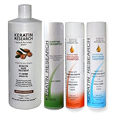 Global Complex Brazilian Keratin Hair Treatment 4 Bottles 1000ml Kit Free Shipping Includes Sulfate Free