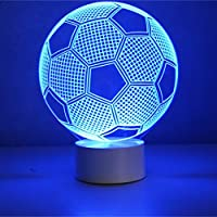 Optical Illusion 3D Lamp 7 Colour Changing Football by AddCore