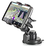VENA 360 Degree Clip Grip Windshield Dashboard Universal Car Mount Holder for iPhone Smartphone and GPS Devices with Sticky Gel Sunction Cup
