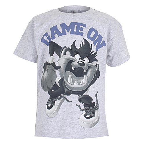 Official Boys Looney Toons Taz Game On T-Shirt | Grey