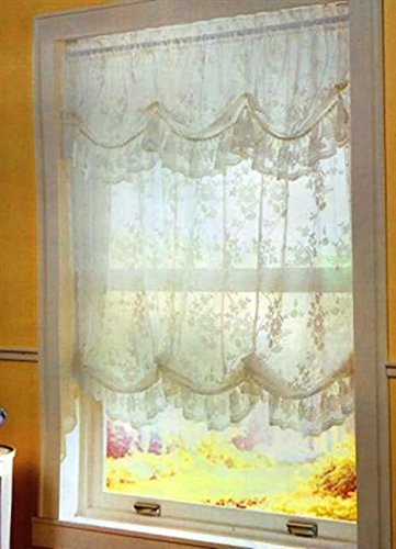 Alison Lace Balloon Shade 58 W X 64 L Ivory With Attached