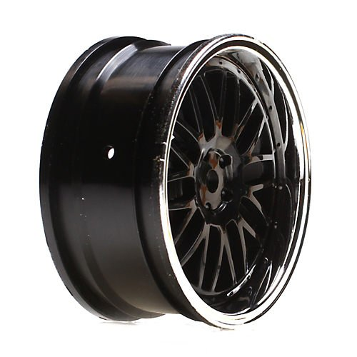 Vaterra 43003 Wheel FR 54 x 26mm Deep Mesh chrome/Blk (2): V100 - 1