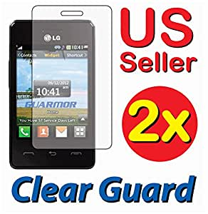 Amazon.com: 2x LG 840G LG840G Tracfone Clear LCD Screen Protector