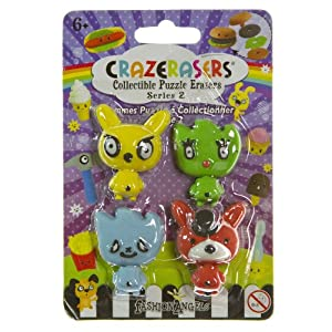 Cutey Mascot (4 Mini-Erasers) - CrazErasers: Collectible Erasers Series 2