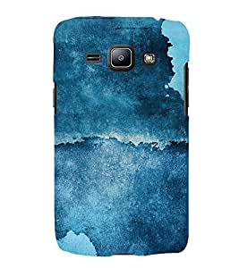 Abstract Blue Pattern 3D Hard Polycarbonate Designer Back Case Cover for Samsung Galaxy J2 (2016)