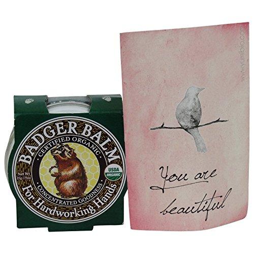 BADGER BALM - Balsamo Mani EcoBio per la pelle secca e ruvida - Sollievo da eczema e psoriasi- 21 gr