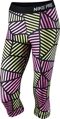 Nike Women's Pro Fade Training Capris, Hot Pink/Black/White, Medium