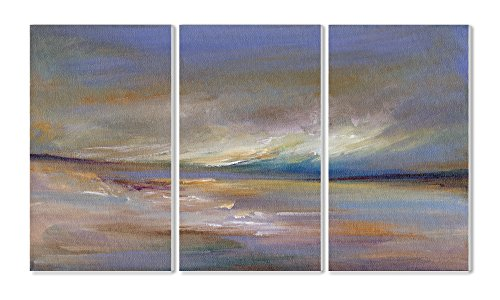 The Stupell Home Decor Collection Ocean Horizon 3-Piece Triptych Wall Plaque Set