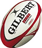 Gilbert Men's Zenon Rugby Training Ball - Red/Black, Size 5