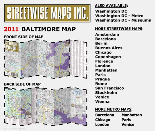 Streetwise Baltimore City Center Street Map Baltimore, ...