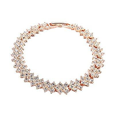 Bracelet with Swarovski Diamond Crystals in 18ct Gold Finish