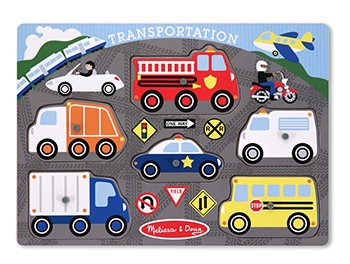 Cheap ERC Quality Transportation Peg Puzzle By Melissa & Doug (B004Z1OIJY)