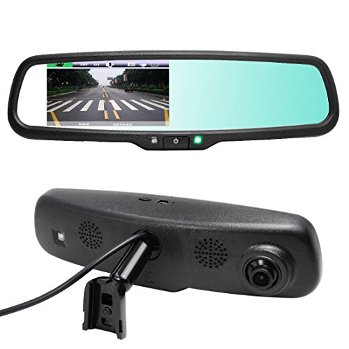 AUTOWINGS A-468 Full HD 1080P Car Dash Cam 4.3 inch Screen Auto-Dimming Rearview Mirror Monitor Video Recorder Support Backup Camera