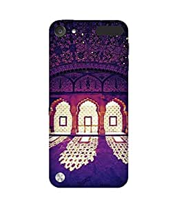 Purple Interiors Back Cover Case for Apple iPod Touch (5th generation)