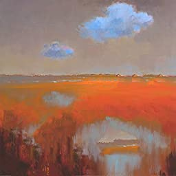27in x 27in Reflecting Clouds by Jan Groenhart J. - Stretched Canvas w/ BRUSHSTROKES