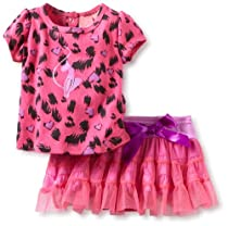 Baby Phat - Baby-Girls Newborn Leopard Print Tutu Set, Fuschia, 3-6 Months