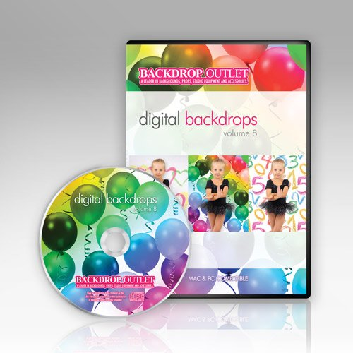Digital Backdrops Cd By Backdrop Outlet Volume 8 Mac & Windows (Digital Backdrops For Photography compare prices)