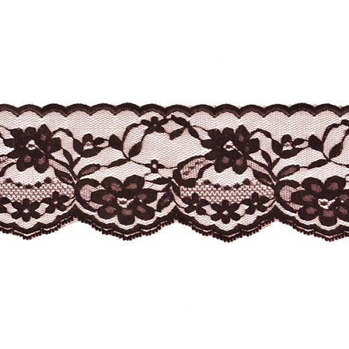 "Discover Bargain 2 3/4"" Chantilly Lace Trim Black"