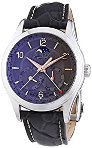 Armand Nicolet Men's Automatic Watch with Grey Dial Analogue Display and Grey Leather Strap 9742B-GS-P974GR2