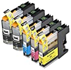 5 Pack Compatible with Brother LC101 , LC103 2 Black, 1 Cyan, 1 Magenta, 1 Yellow for use with Brother DCP-J152W, MFC-J245, MFC-J285DW, MFC-J4310DW, MFC-J4410DW, MFC-J450DW, MFC-J4510DW, MFC-J4610DW, MFC-J470DW, MFC-J4710DW, MFC-J475DW, MFC-J650DW, MFC-J6520DW, MFC-J6720DW, MFC-J6920DW, MFC-J870DW, MFC-J875DW. Ink Cartridges for inkjet printers. LC101BK , LC101C , LC101M , LC101Y , LC103BK , LC103C , LC103M , LC103Y © Blake Printing Supply
