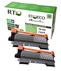 Renewable Toner TN450 Brother TN-450 2-Pack Cartridges for Brother Laser Printers