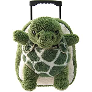 ... : New! Sweet Kid's Plush Animal Turtle Rolling Backpack: Toys & G...