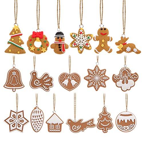 Tinksky Copo de nieve colgantes navidad adornos árbol de fiesta decoración de...