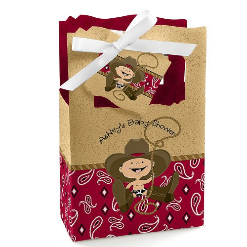 Baby Shower Favor Boxes - Little Cowboy front-702774