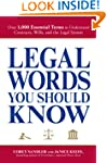 Legal Words You Should Know: Over 1,0...