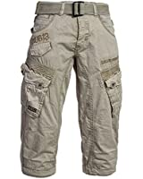 Gangster Unit by Geographical Norway Herren Cargo 3/4 Hose Shorts Short Bermuda Petrol