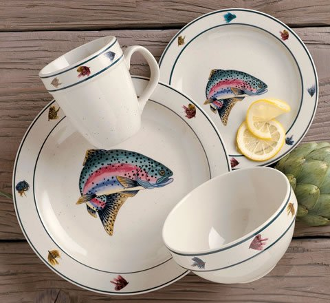 Buy Rainbow Trout 16-pc. Dinnerware Set