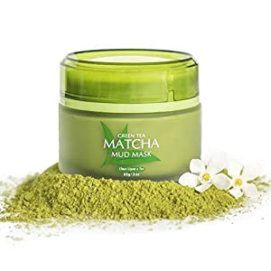 Best Green Tea Matcha Mud Mask, 100% All Natural, 85g/ 3 fl.oz, Reduces Wrinkles, Nourishing, Moisturizing, Improves Overall Complexion, Antioxidant, Skin Lightning And Anti Aging