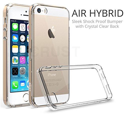 e3f84657794 Crust Air Hybrid Clear Back Cover For Apple iPhone SE   iPhone 5S   iPhone 5